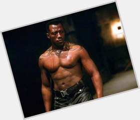 Wesley Snipes dark brown hair & hairstyles Athletic body,